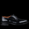 Alden - Wallace Plain Toe Blucher in Black Cordovan D6417C