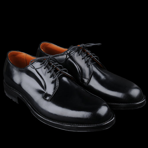 Wallace Plain Toe Blucher in Black Cordovan D6417C
