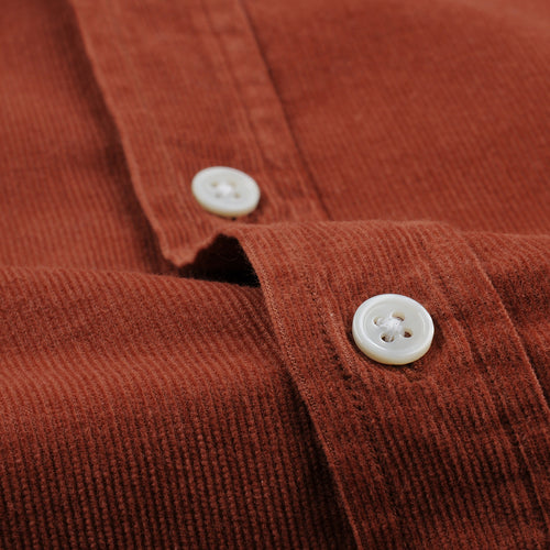 Field LS Shirt in Brick Corduroy