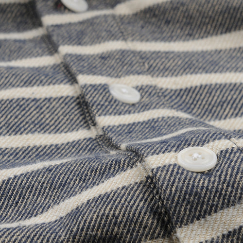 Pocket Popover LS Shirt in Factory Stripe
