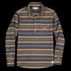 Far Afield - Pocket Popover LS Shirt in Hac Stripe