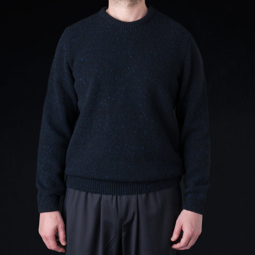 Onin Crewneck in Navy Melange