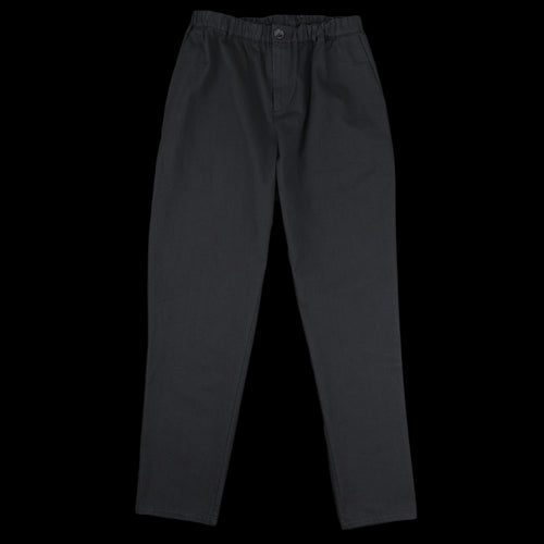 Elasticated Wide Trouser in Washed Black