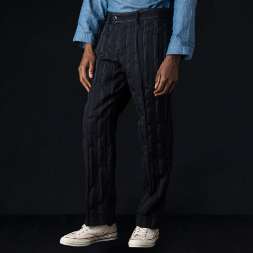 Wool Combination L-pocket Pants in Navy