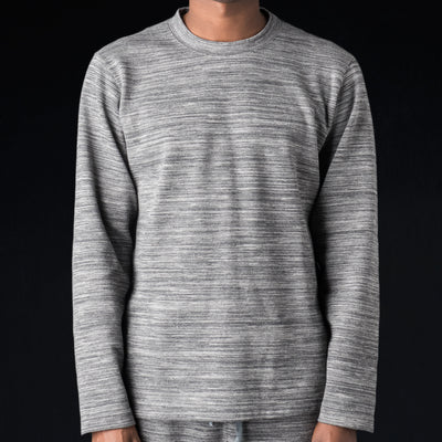 Ts(S) - Brushed Back Double Jersey Crew Neck Shirt in Grey