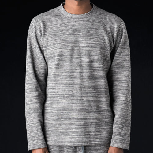 Brushed Back Double Jersey Crew Neck Shirt in Grey