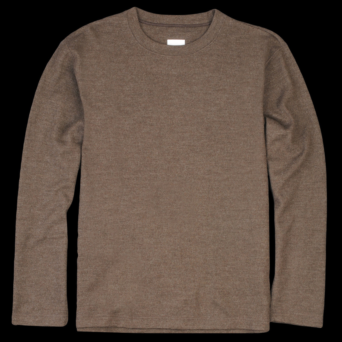 Ts(S) - Washable Milled Wool Jersey Crew Neck Shirt in Brown - UNIONMADE bab2427eb
