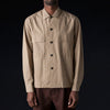 Tomorrowland - Fx Poplin Officer's Shirt in Brown