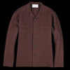 Tomorrowland - Shrink Wool Shirt Jacket in Brown