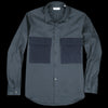 Tomorrowland - Ht Gabardine Wool D Pocket Shirt in Navy