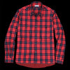 Tomorrowland - Shaggy Check Hem Sealing Shirt in Red