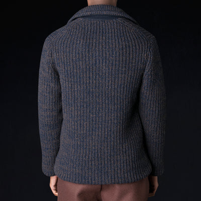Tomorrowland - Mix Wool P-Coat in Blue
