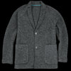 Tomorrowland - Wool Brush Boa Blouson Jacket in Dark Grey