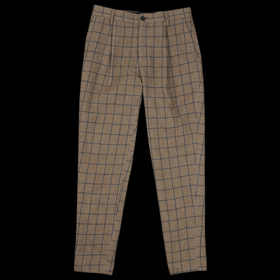 Tomorrowland - Washed Flannel Pleated Pant in Brown
