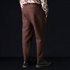 Tomorrowland - Shrink Wool Tucked Pant in Brown
