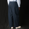 Studio Nicholson - Bryn Herringbone Volume Pant in Dark Navy