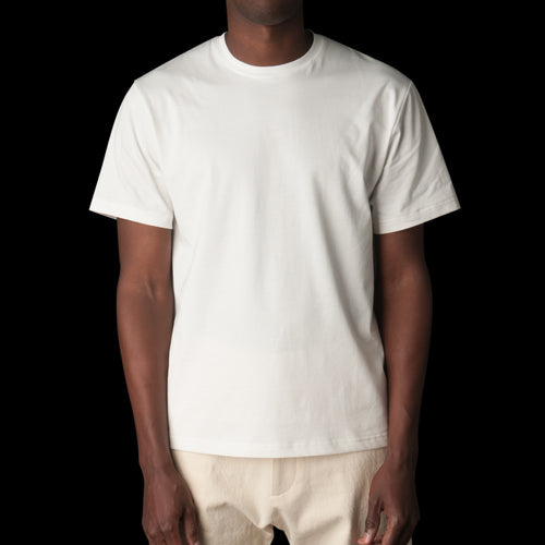 Letra Mercerized Cotton Short Sleeve Tee in Ivory