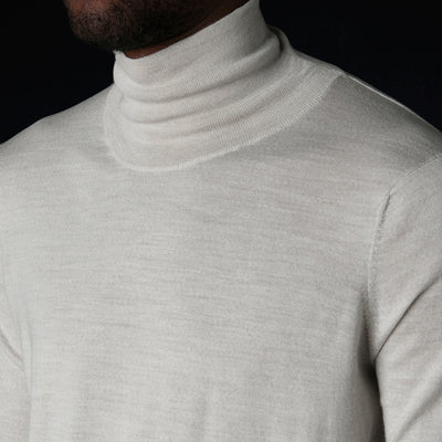 Studio Nicholson - Sense Fine Gauge Turtleneck in Putty