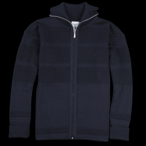 Fisherman Full Zip in Navy Blue