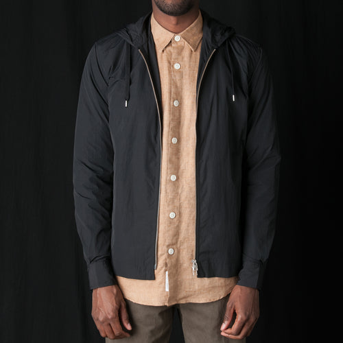 Overshirt Hood Tech in Black
