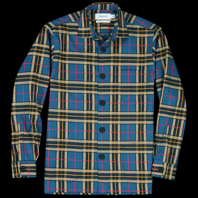 Schnayderman's - Overshirt Virgin Wool Large Check in Mustard & Green