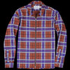 Schnayderman's - Zipshirt Virgin Wool Large Check in Pink & Rust