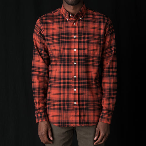 Shirt Twill Large Check in Rust & Black