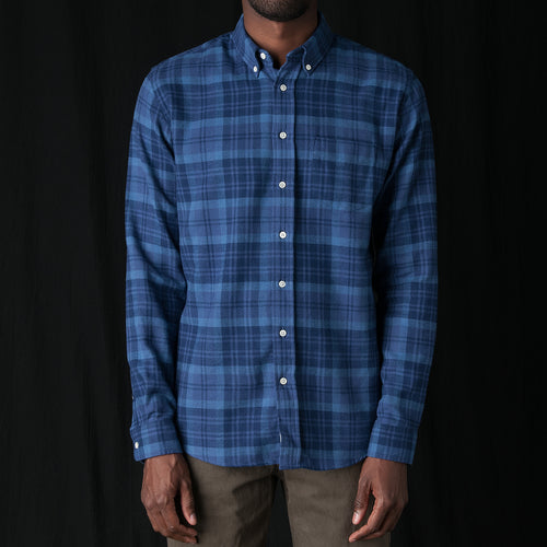Shirt Twill Large Check in Blue