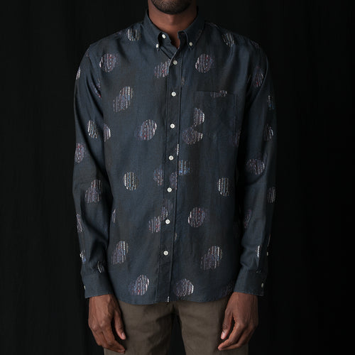 Shirt Print TV Noise in Blue