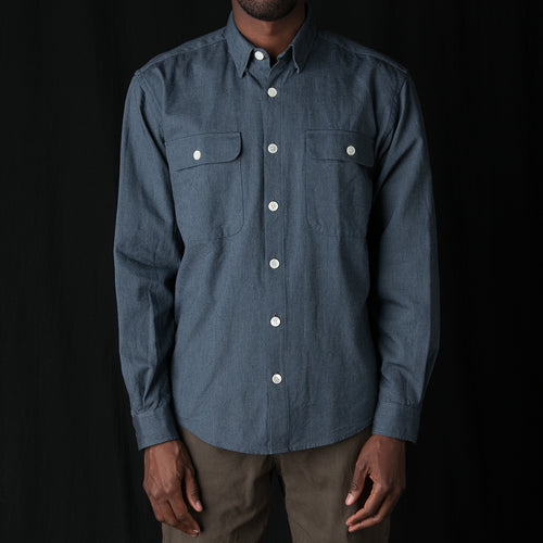 Shirt Twill Oversized in Navy