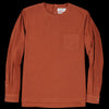 Schnayderman's - T-shirt Poplin Garment Dyed Long Sleeved in Rust