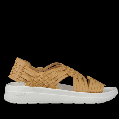 Malibu Sandals - Canyon Classic Vegan Leather in Beige & Papyrus
