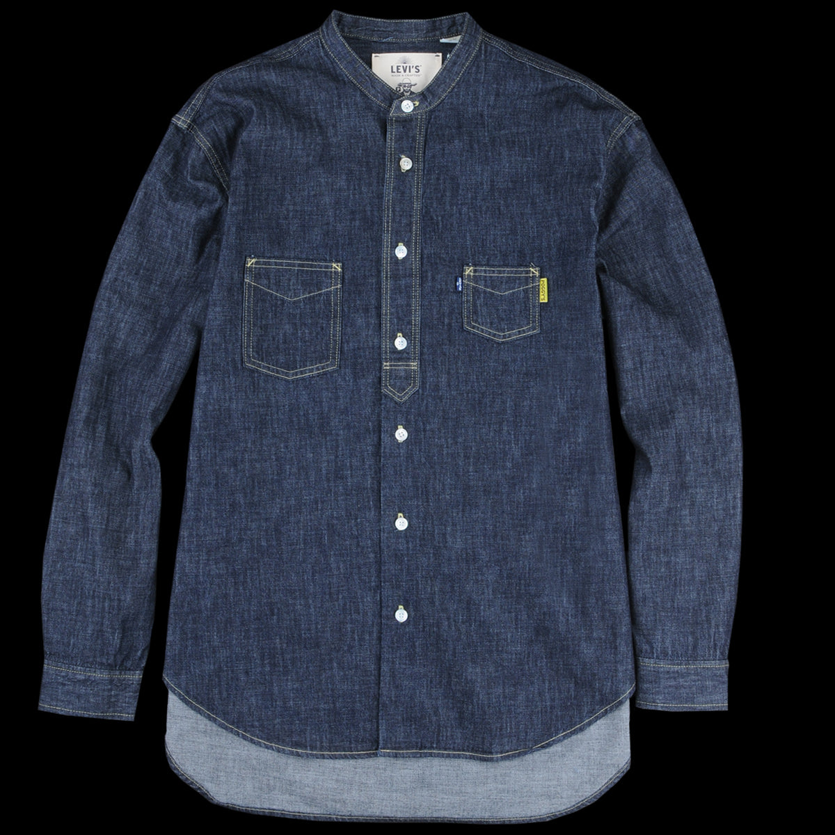 def09308c47 Levi s Made   Crafted - Poggy Work Shirt in Rinse - UNIONMADE