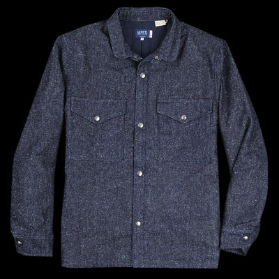 Levi's Made & Crafted - Shirt Jacket in Neppy Denim Blues