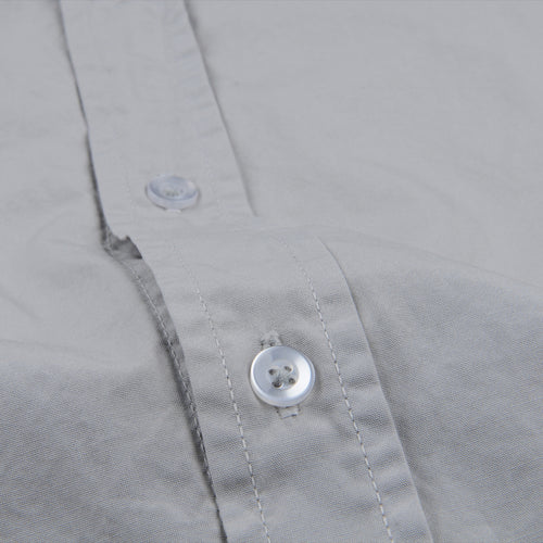 Poplin Easy Shirt in Cement