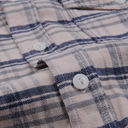 Plaid Flannel Work Shirt in Tea