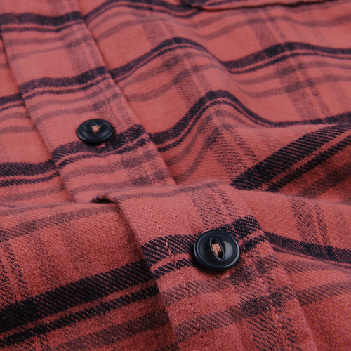 Plaid Flannel Work Shirt in Terra
