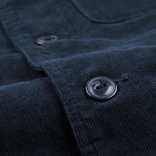 Corduroy Camp Shirt Jacket in Slate