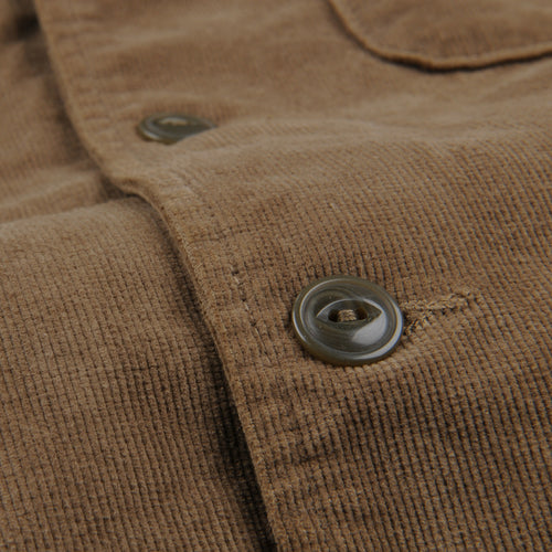 Corduroy Camp Shirt Jacket in Tobacco