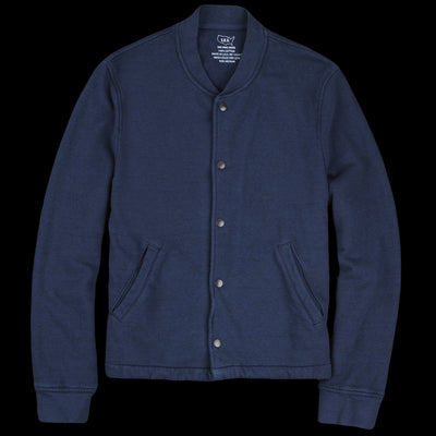Save Khaki - French Terry Warm Up Bomber in Navy