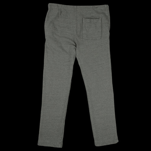 French Terry Open Bottom Sweatpant in Olive Drab