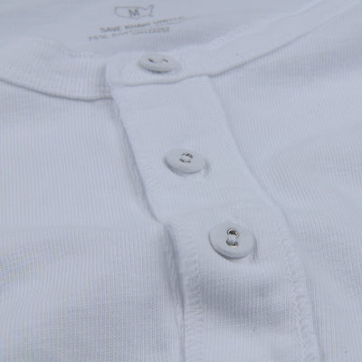 Save Khaki - Cotton Hemp Henley in White