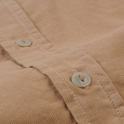 Save Khaki - Baby Cord Work Shirt in Squash