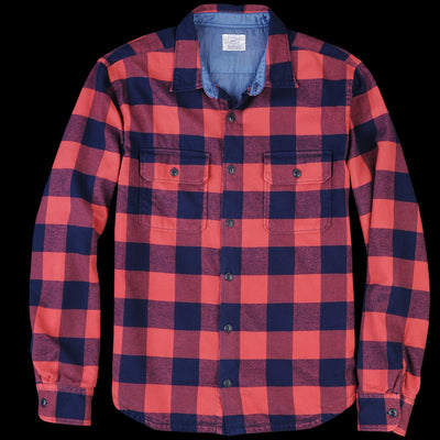 Save Khaki - Buffalo Plaid Camp Shirt in Terra