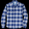 Save Khaki - Buffalo Plaid Camp Shirt in Storm