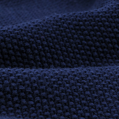 Fall River Knitting Mills - Seed Stitch Fisherman Sweater in Navy
