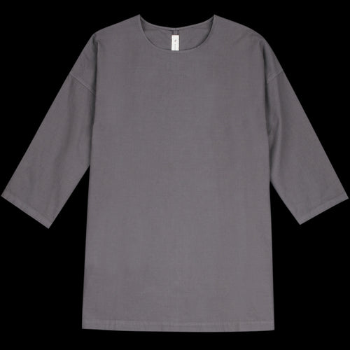 Muro Oversized Woven Tee in Faded Black