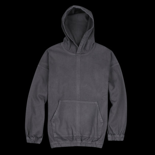 Wara Woven Hoodie in Faded Black