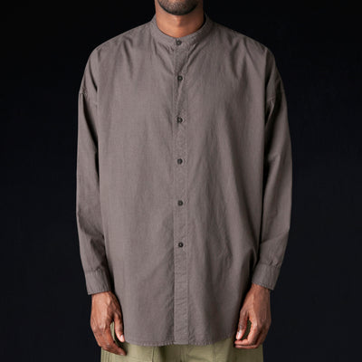 Prospective Flow - Mei No Collar Shirt in Faded Black