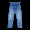 Kapital - 12oz Denim Gurkha Pants (Pleats Damage) in Midtone